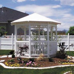 10' All Vinyl Side Gazebo