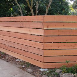 Horizontal Con-Heart Redwood Fence
