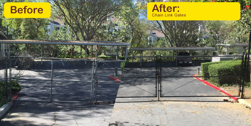 Before and After: Chain Link Gates