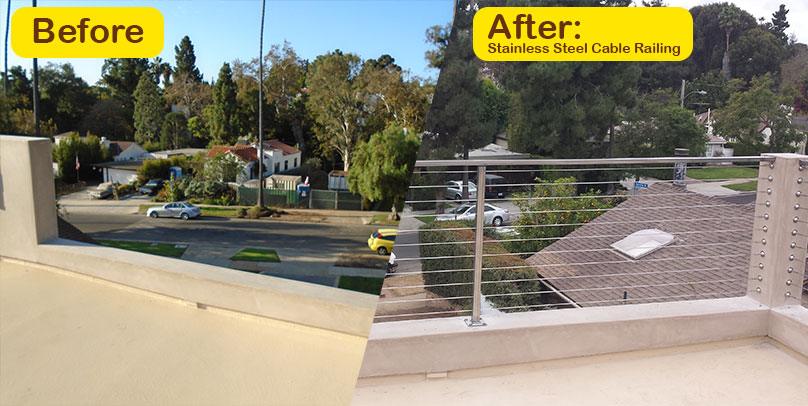 Before and After: Stainless Steel Cable Railing