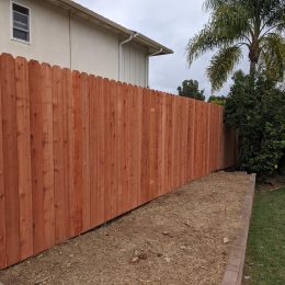 Dog Ear Con-Heart Redwood Fence