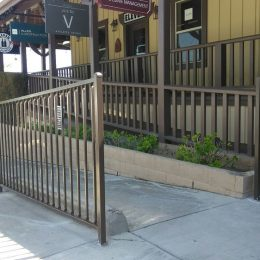 Brown Ornamental Iron Fence