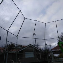 Chain Link Backstop and Netting