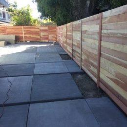 Con-Common Redwood Horizontal Fence