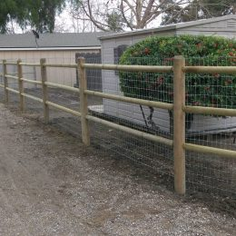 Polecraft Fence with Welded Wire Attached