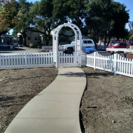 Vinyl Picket Fence with Arbor